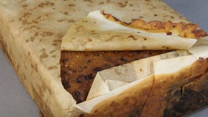 A fruitcake found in Antarctic after 106 years