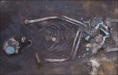 Restoration works unearth 2900-year old warrior grave