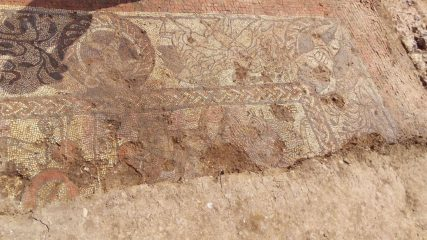 Ancient Roman mosaic with mythological motifs unearthed