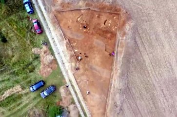 Excavations of the recently found rondel in Poland reveal archaeological features