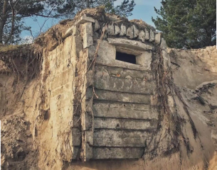 Recent storms unearths fortifications at Baltic Shore