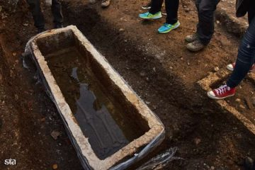 Well preserved sarcophagus found in city's centre