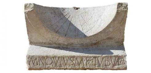 Ancient sundial found by Roman theatre