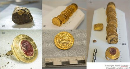 Medieval gold treasure found at the Abbey of Cluny