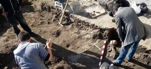 Medieval burial found by Roman-era theatre