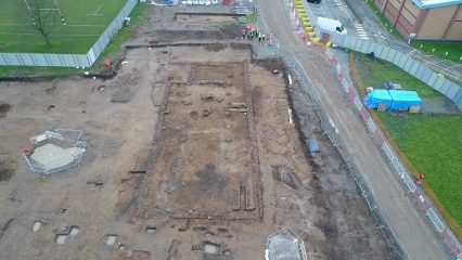 Roman villa uncovered at construction site