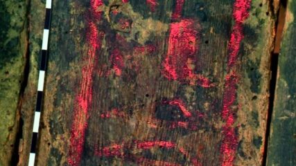 Scanning technique reveals writing on mummy cases