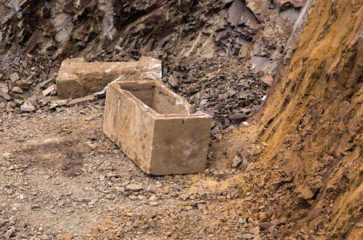 Ancient sarcophagus found at construction site