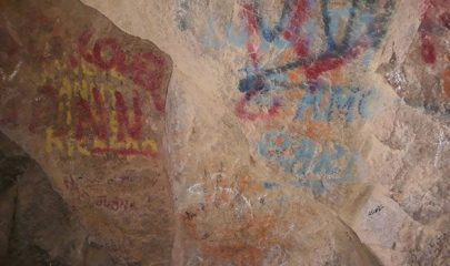 Tiwanaku cave paintings destroyed with grafitti