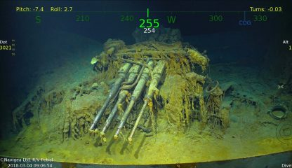 Wreckage of WW2 aircraft carrier discovered