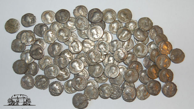 2000-year-old coins found on a field in northern Poland
