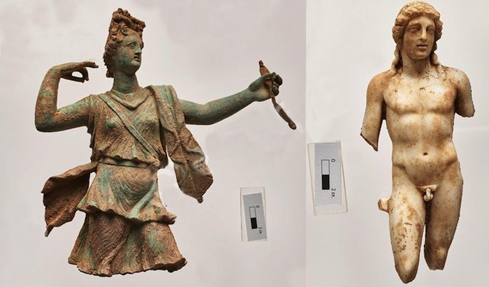 Greek sculptures revealed at the site of Aptera