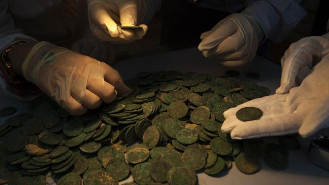 600 kilogram hoard of coins found by construction workers