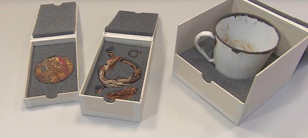 A personal treasure discovered inside tin mug at Auschwitz exhibition