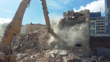 Pre-WW2 factory destroyed by the developer