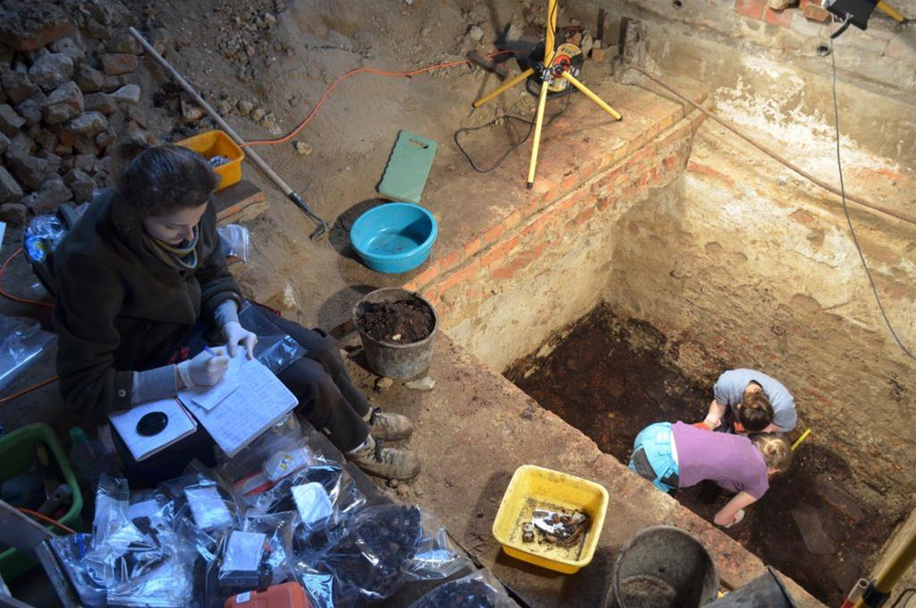 Painted coffins among finds during Collegiate Church excavations