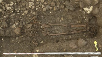 Discovery of a 300-year-old grave of a man buried face down from Switzerland