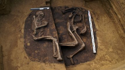 Archaeologists discover prehistoric graves at a major road construction site