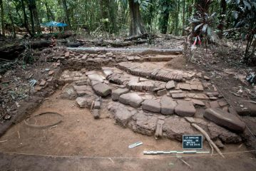 Excavation of a slave plantation in French Guiana