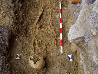 Early Medieval graves found by the church in England