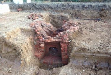 Lime kiln unearthed during construction works