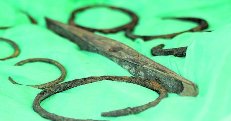Bronze treasure trove discovered last year put on display in local museum