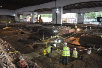 Excavation prior to construction of a transport hub reveals thousands of artefacts