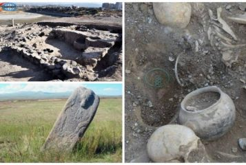 Ritual site marked with a large sculpted stone discovered in Armenia