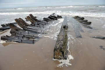Recent Baltic storm unearths remains of a 19th century ship