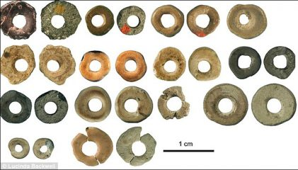 Palaeolithic beads made of ostrich eggshells found in Denisova cave