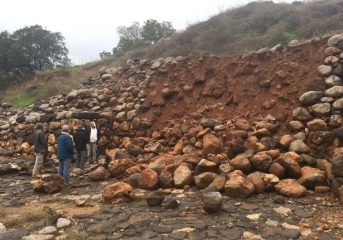 First Temple Period wall destroyed by heavy rainfall