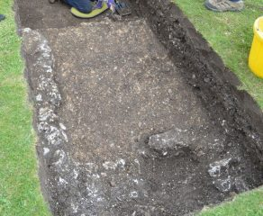 Remains of Roman buildings found under park grass