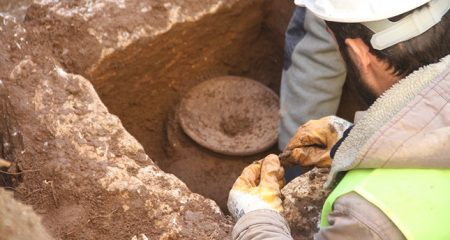 Hellenistic jar filled with human remains found at construction site