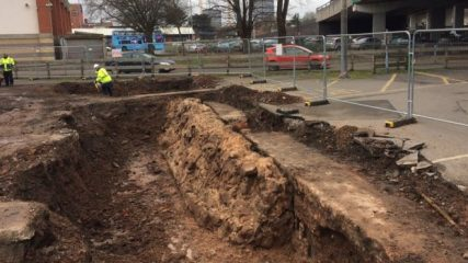 Medieval wall found beneath car park