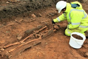 Over 150 skeletons found at road construction site
