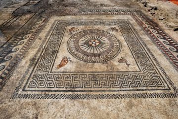 Ancient mosaics revealed in Roman-age town