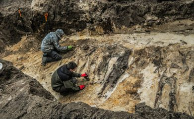 Around 300 headless skeletons discovered in a forest