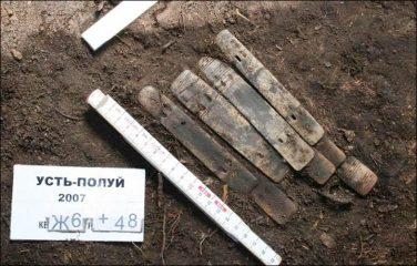 Pieces of armour made of reindeer antlers found in Siberia