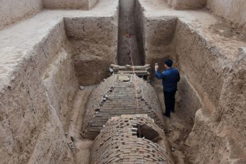 Pyramid tomb unearthed in China