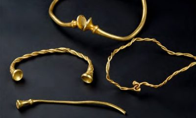 Iron age gold jewellery found by detectorists