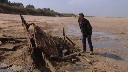 D-Day barge found at French beach ...and destroyed