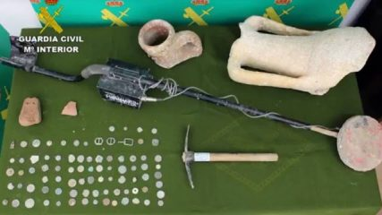 Thousands of ancient coins and artefacts seized in Spain