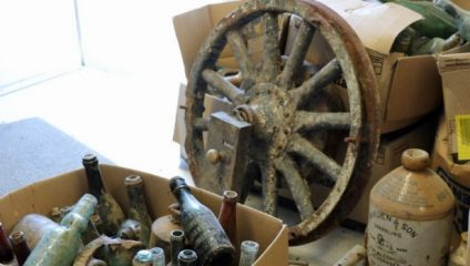 Trove of 19th cent. artefacts found during construction