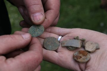 Community dig leads to Medieval coins find