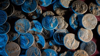 Over 200 silver coins found by detectorists