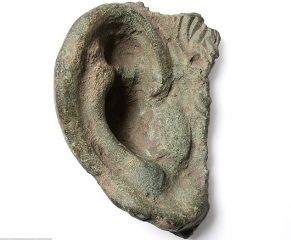 Bronze Roman statue ear found by detectorist
