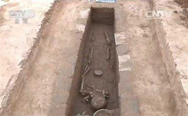 Nomadic burials discovered in ancient tomb complex