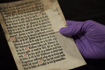 Librarian finds page of priests' handbook in university library