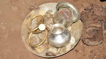 Ancient treasure unearthed near Hindu temple