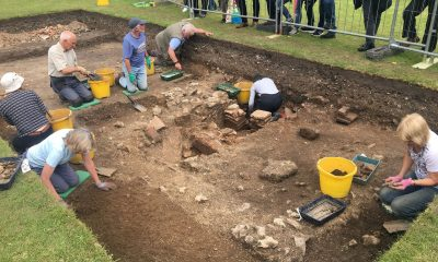 Remains of Roman bath discovered under public park